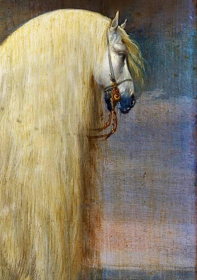 The horse Gullfaxi and the swordGunnfoder